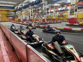 Indoor go karting for Bratislava bachelor party