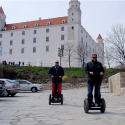 Getting to know Bratislava from Segways