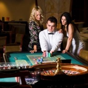 Man playing roulette in vip casino